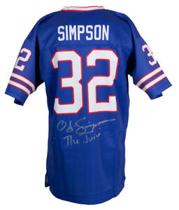 O.J. Simpson Signed Custom Blue Pro Style Jersey The Juice JSA ITP