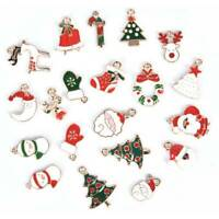 20 PCs Metal Alloy Mixed Charms Christmas Pendant For DIY Craft Jewelry Making