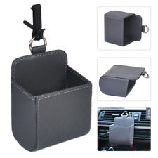 Grey Car Auto PU Leather Air Vent Storage Box Organizer Phone Key Case Holder