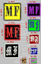 MF oder MIT DEINEM WUNSCHKENNZEICHEN INITIALEN oder ZAHL , Aufnäher ,Patch