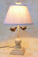 Tischlampe Lampe Stehleuchte Landhaus Shabby Vogel Holzschnitz Optik PQ020-a