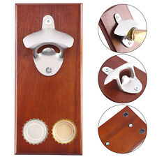 Wall Mounted Magnetic Bottle Opener Beer Wine Cap Catcher Home Kitchen Bar Gift