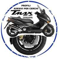 ADESIVI CERCHI PROFILO BLU COMPATIBILE YAMAHA 500 XP T-Max SJ031 2004-2007