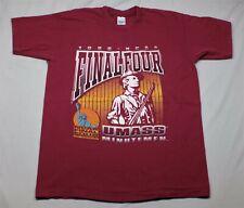 New listing Vintage 90s 1996 Ncaa Final Four Umass Minutemen T-shirt Salem Sportswear Large