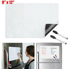 Magnetic Dry Erase Refrigerator Fridge Flexible White Board Blank Memo + Markers