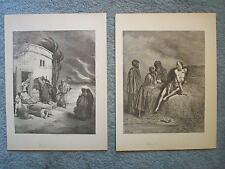 1889 SOOY BIBLE TALKS WITH CHILDREN GUSTAVE DORE ENGRAVINGS JOB INFORMED OF RUIN