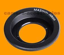 M42 Objektiv zu Nikon DSLR SLR Kamera F Mount Adapter Ring Glass Infinity Focus