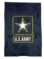 """28x40 Embroidered US U.S. Army Black Star Nylon Double Sided Garden Flag 28""""x40"""""""