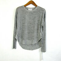 Joseph Ribkoff Womens size 8 Gray Long Sleeve Hi Lo Rounded Hem Top NEW