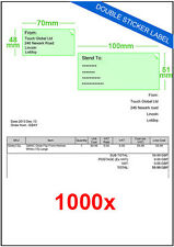 A EBAY SM SMP Double Integrated Label Stickers Postal Address - Integrated label invoice paper