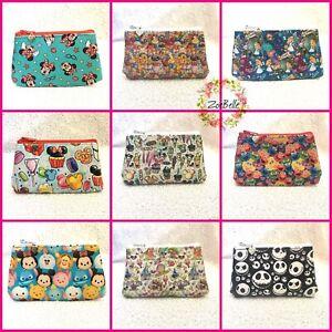 Womens Girls Kids Small Mini Wallet Card Coin Purse Zip Bag Cartoon Vinyl - NEW