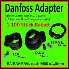 ⭐️💯% Adapterringe für Danfoss Heizungsventilantrieb Heizungsventile RA RAV RAVL