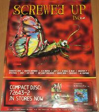 SCREWED UP INC #2, Smokin Records comp promo poster, 2000, 18x24, EX, hip-hop