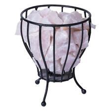 Rose Quatz Crystal Cage Calcite Natural Reiki Chakra Minerals Lamp