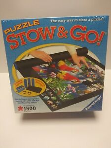 """Ravensburgerger Jigsaw Puzzle Stow & Go New Sealed 46""""x26"""" Puzzles Up to 1500 Pc"""