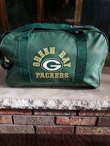 Vintage GREEN BAY PACKERS NFL Football Team Duffel Gym School Bag Backpack Vtg