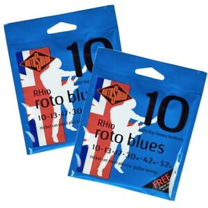 Rotosound RH10 Roto Blues Electric Guitar Strings 10-52 (2 Sets)