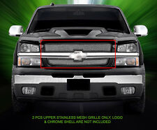 Mesh Grille Grill Upper Insert For 02-06 Chevy Avalanche 03-05 Silverado