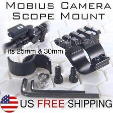 Mobius Camera Scope Mount fits 25mm 1 inch & 30 mm Scope Actioncam Scope Cam