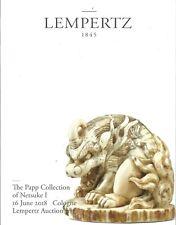 LEMPERTZ JAPANESE NETSUKE I The Papp Collection Auction Catalog 2018
