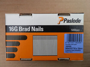 5000pcs Paslode F16 19mm Straight Brads 16G Galvanised Brad Nails Trade Size Box