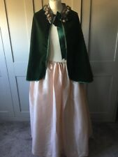 Ladies Victorian Fancy Dress Costume Bonnet Skirt & Cape  New