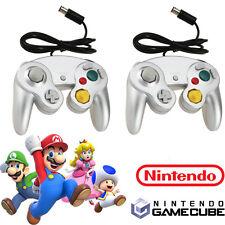 2 lot Game Joystick Controller Pad for Nintendo Gamecube GC Wii NGC Silver