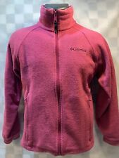Columbia Zip Front Purple Fleece Jacket Size 14 / 16 Youth