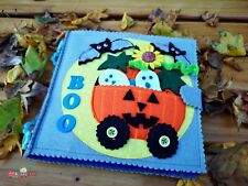 Halloween Quiet Sensory Busy Book Children Learning Montessori Special Needs Toy