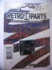 RETRO PARTS RP141B- Square Jack plate- Gibson style- Black plastic- NEW