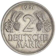 Brd Mark-währung Münzen Deutschland Ab 1945 Coin Münze 2 Dm Trauben Und Ähren 1951 J Cu.ni Jäger 386 Nr.9268
