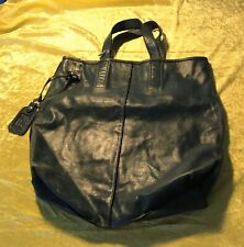 Preowned Dolce And Gabbana Tote Bag In Blue Leather