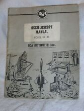 Vintage RCA Institutes Model 54-45 Oscilloscope Assembly And Operation Manual