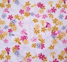 Wander BTY Joel Dewberry FreeSpirit Meadow Floral Pink Gold Gray on White