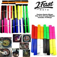 2FastMoto Spoke Wrap Kit BMX Mountain Bike Bicycle MTB Wraps Skins Covers