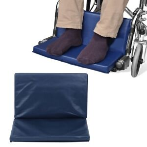Wheelchair Pedal Foot-Rest Elevating Pad Leg Cushion Protector 16x20x1in Blue