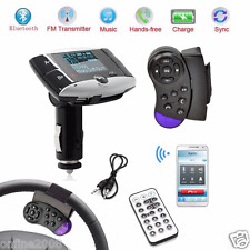 "1.5"" LCD Bluetooth FM Transmitter Car Kit MP3 Player Modulator SD MMC USB"
