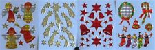4 Blatt Schöne Bendig Weihnachtssticker zum  Aufkleben und Dekorieren