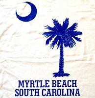 Myrtle Beach, South Carolina T-Shirt, Men's Size 4XL, White Cotton, SC NWT
