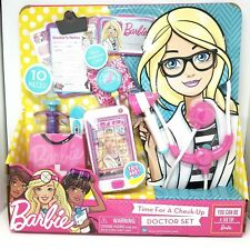 NEW Barbie DOCTOR SET Time for a Check-Up Cell Phone Badge Syringe Stethoscope