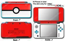 Pokemon Pokeball Classic Skin Vinyl Sticker Cover Decal for NEW Nintendo 2DS XL