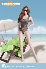 Fire Girl Toys 1/6th Female Camo.Swimwear Sun Protection Clothes F 12'' Figure