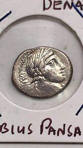 Caius Vibius Pansa AR Denarius 90 BC. Roman Republic