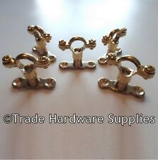 Brass Munsen Ring Bracket Pipe Clips with Backplates