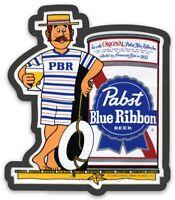 PBR Pabst Blue Ribbon Custom MAGNET beer fridge P.B.R. toolbox magnet Beach