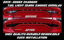 2015 - 2018 Dodge Charger Tail Light Dark Smoke Overlay Tint smoked out