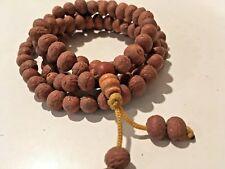 Bodhi seed Raktu Mala 8mm Napali- 108 Beads On Nylon Cord With Guru Bead