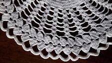 ANCIEN NAPPERON coton Blanc au crochet 24 cm @OLD mat