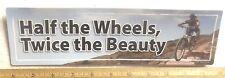 Half the Wheels, Twice the Beauty Bumper Magnet