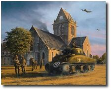 Liberation - Sainte Mere Eglise (A/P Ed) by Richard Taylor - Tank- 3 Extra Sigs!